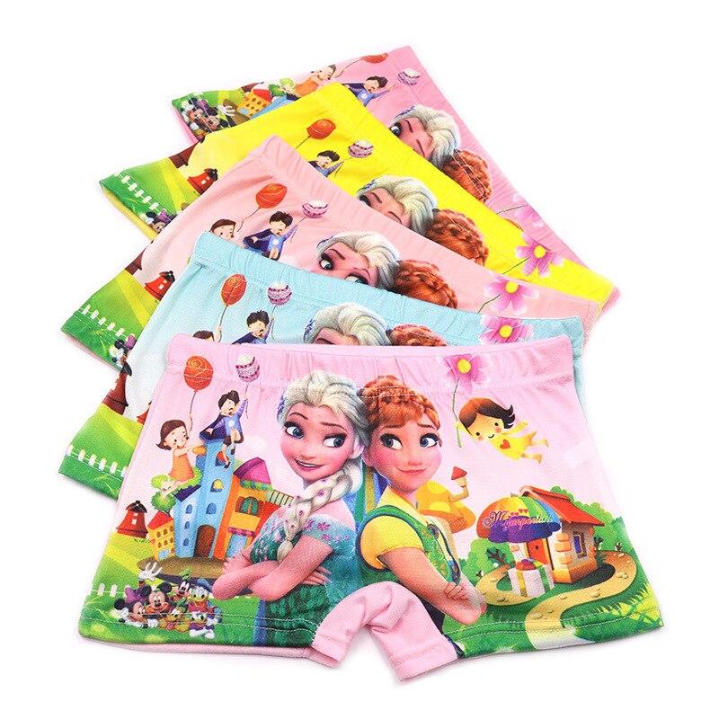 5pcs/lot  Fashion Kids Panties Girls' Briefs Female Child Underwear Lovely Cartoon Panties Children Clothing Wholesale 2-8Yrs