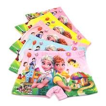 5pcs/lot  fashion kids panties girls briefs female child underwear lovely cartoon children clothing wholesale 2-8Yrs