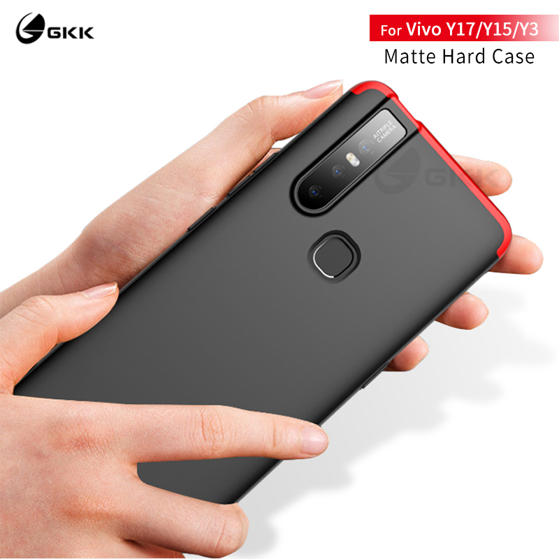 GKK original for <font><b>Vivo</b></font> Y17 <font><b>case</b></font> 3 In 1 fashion All-included protection Anti-knock Hard PC matte cover for <font><b>Vivo</b></font> <font><b>Y15</b></font> Y3 <font><b>Case</b></font> coque image