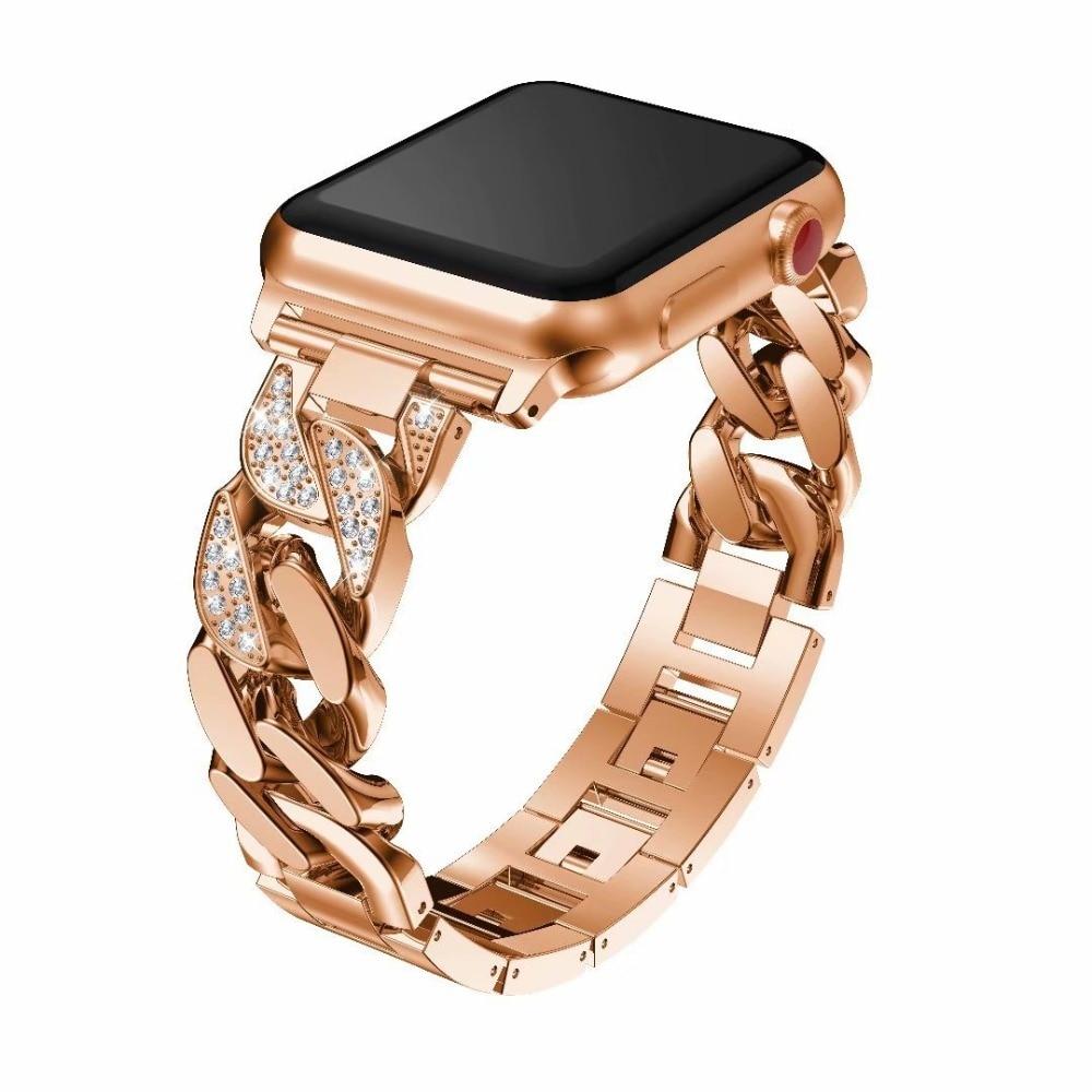 Rose Gold Stainless Steel Bracelet for Apple Watch Bands 42mm Straps Strap For Apple Watch 4 44mm Band 38mm Series 4 3 2 1Rose Gold Stainless Steel Bracelet for Apple Watch Bands 42mm Straps Strap For Apple Watch 4 44mm Band 38mm Series 4 3 2 1
