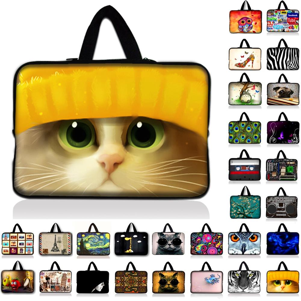 Cute Cat Laptop Sleeve Bag Notebook PC Smart Cover Case For ipad MacBook 7 9.7 10 11.6 12 13 13.3 14.4 15 15.4 17 inch Laptop