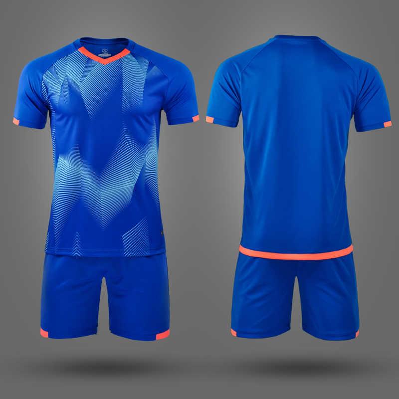 Survete для мужчин t футбол 2019 дети мужской, футбол Джерси Набор пустой футбольный тренировочный костюм дышащая футбольная команда форменная одежда с принтом