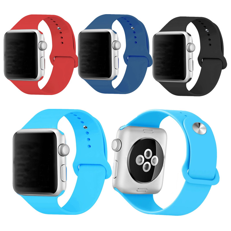New Design Band for Apple Watch Belt 38mm 42mm Silicone Soft Replacement Bracelet Wrist Bands for iWatch Strap Series 1 / 2 / 3 large small size sport silicone replacement watch wrist strap bands for samsung gear fit 2 r360 watch band conjoined watch band