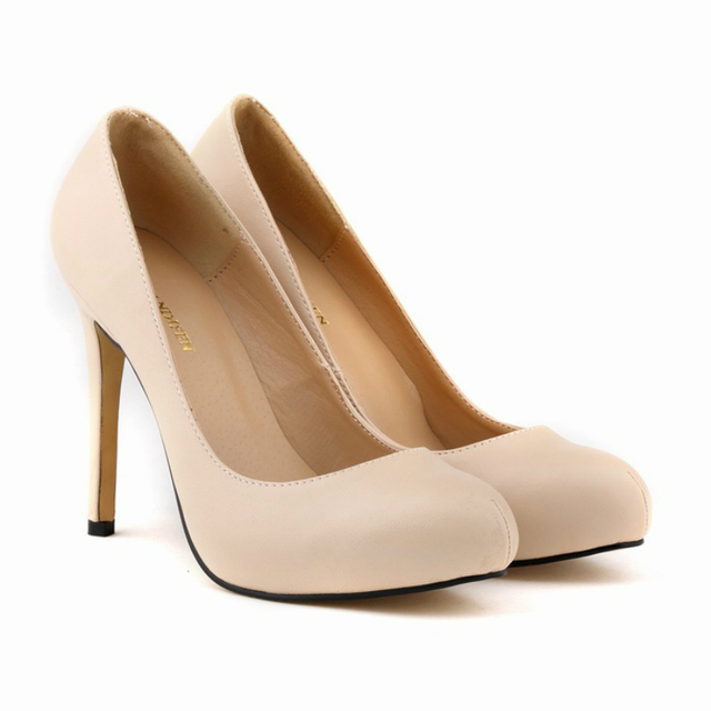e804f8361bb Loslandifen round toe fashion thin heel bridal wedding shoes super high  heels women sexy matte spring autumn nude pumps 806-2MA