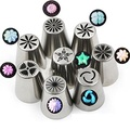 New 8Pcs/Set Russian Tulip Nozzles For Cake Cupcake Decorating Icing Piping Nozzles Rose Flower Cream Pastry Tips