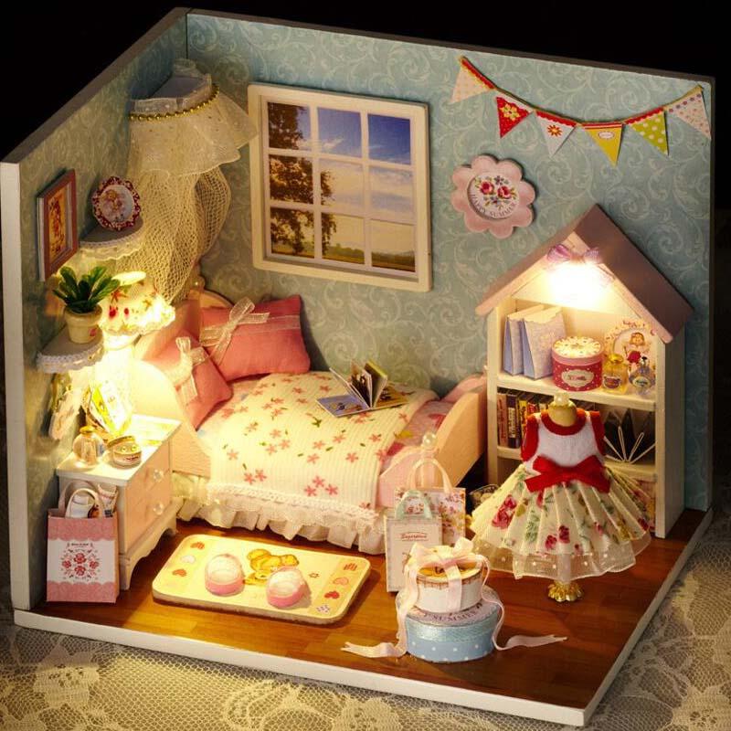 aliexpresscom buy doll house dollhouse room diy toy