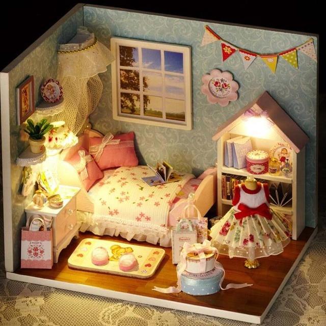 Doll House Dollhouse Room Diy Toy House Set Miniature Doll House