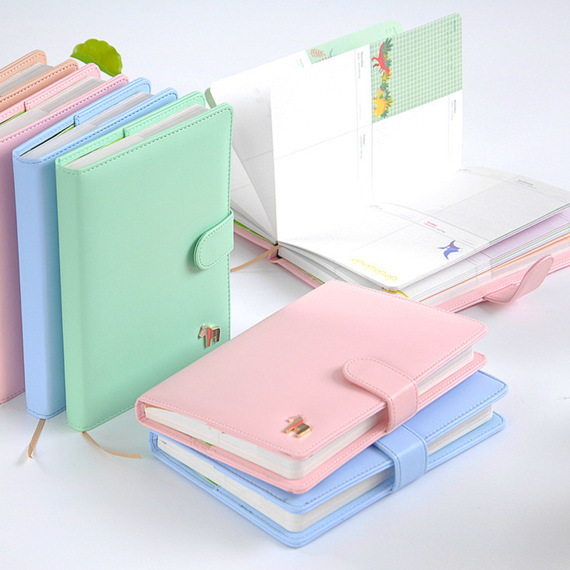 New weekly day Planner Notebook paper 124 Sheets Leather Diary Agenda Organizer Office School Supplies Gift