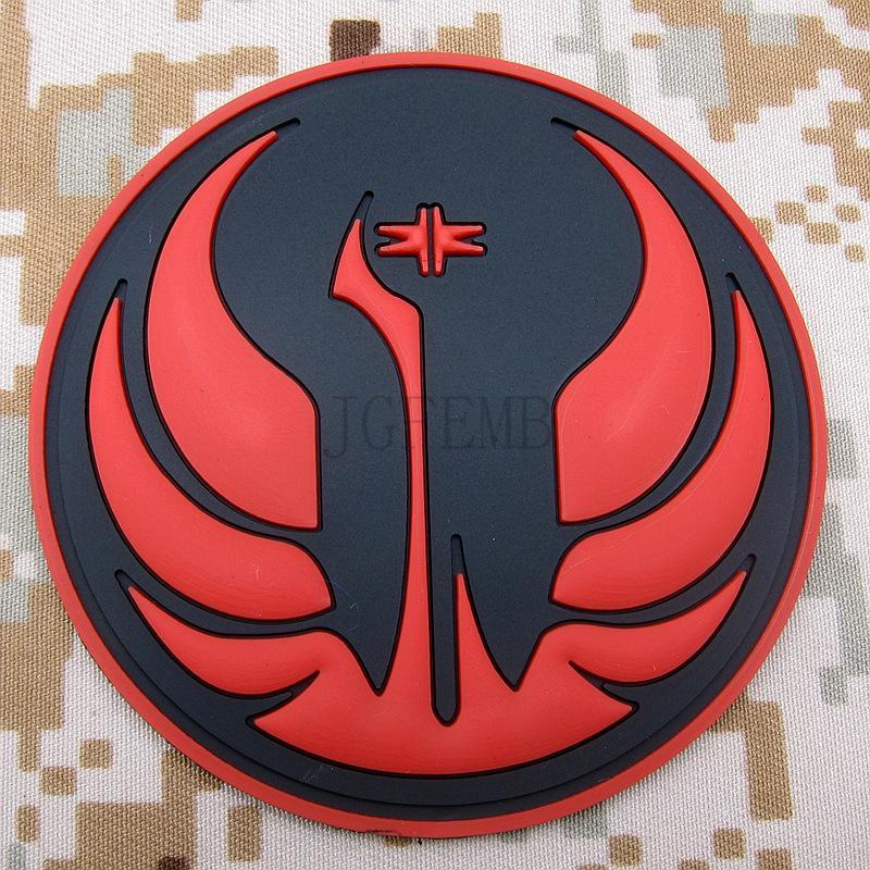 Red  The Jedi Order Insignia Old Republic 3D PVC patch PB1455