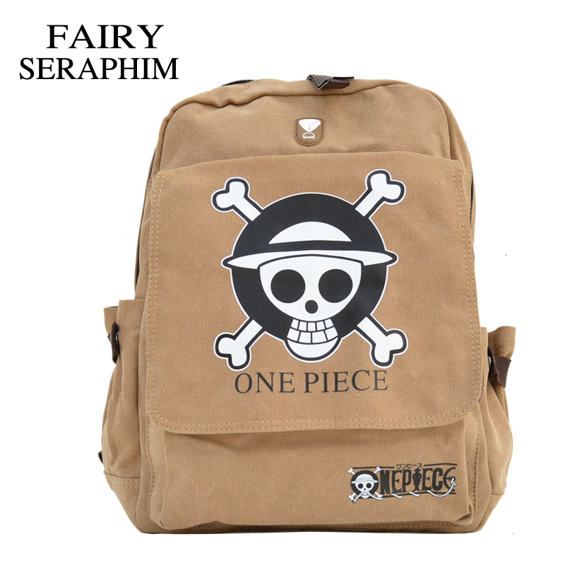 FAIRY SERAPHIM New Cartoon ONE PIECE Backpack Skull Designer Anime Fashion Children's School Bag