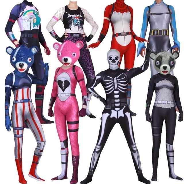 Cuddle Team Leader Mask Costume Skull Trooper Skin Costume Kids