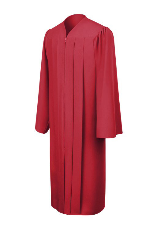 matte-red-middle-school-graduation-gown_Be.fore