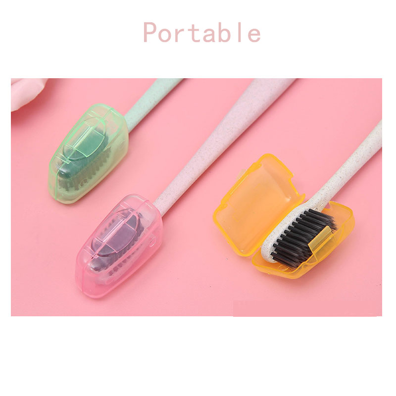 6pcs/lot Very Cheap Colorful Toothbrush Case Potable Travel Toothbrush Protector Toothbrush Head Cap Germproof Case image