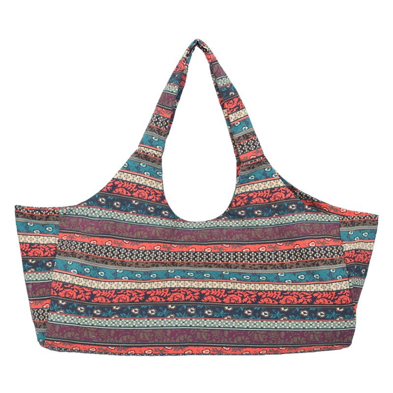 Yoga Sports Bag Pritned Canvas Large Capacity Girl Women Pilates Carried Equipment Fitness Gym Dance Case Mat Bag For Exercise