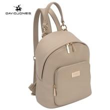 DAVIDJONES Women Backpacks Women's PU Leather Backpacks Female School Shoulder bags Teenage girls college student casual bag