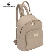 DAVIDJONES Women Backpacks Women S PU Leather Backpacks Female School Shoulder Bags Teenage Girls College Student