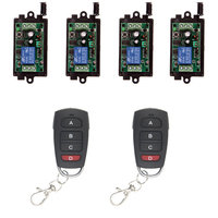Wireless Remote Control Switch 315 433 MHz DC 9V 12V 24V Module + 1CH 4 CH Button RF Remote Control For Light and Door