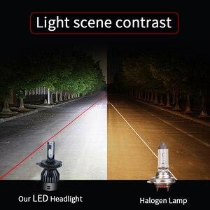 Image 3 - 6000 18k h4 ledヘッドライトh7 led電球 12v 9005 9006 hb3 hb4 D2 9004 9007 H13 H15 ヘッドランプhi/loビーム 6000lm 60 ワットcsp canbusなし無料