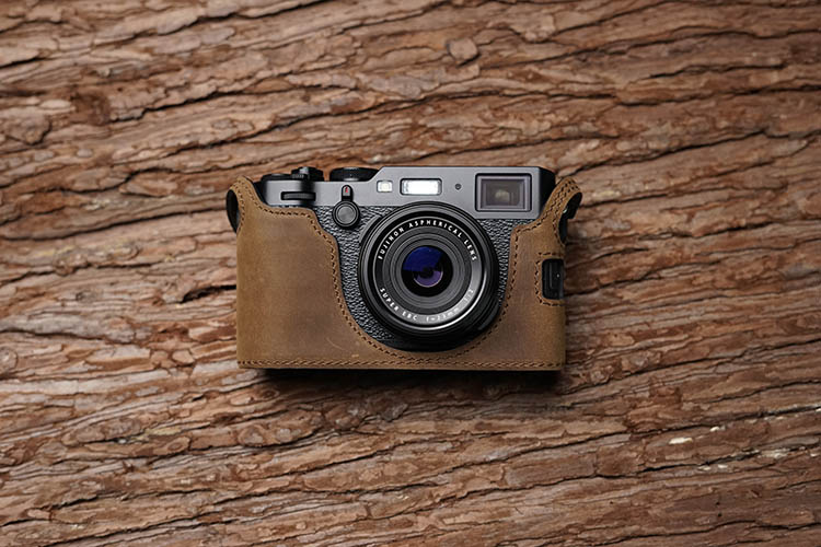 Mr Stone Handmade Genuine Leather Camera case For Fujifilm X100F X100 F Camera Bag Half Cover