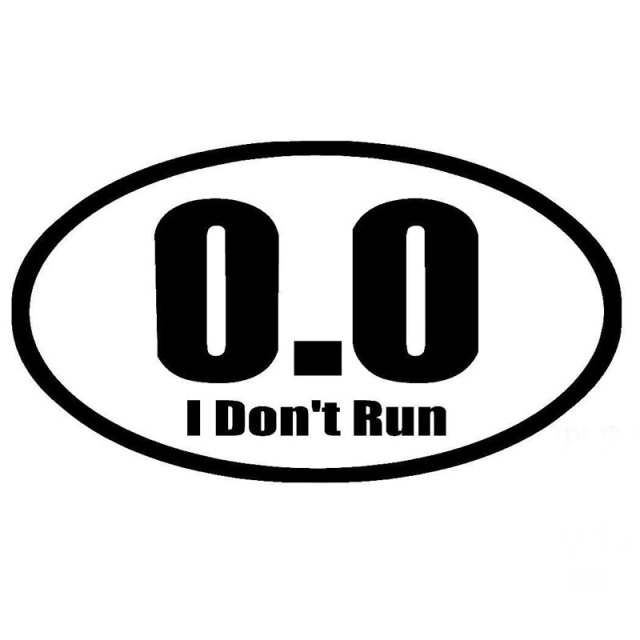 17 8cm10 1cm 0 0 i dont run adhesive vinyl car sticker and