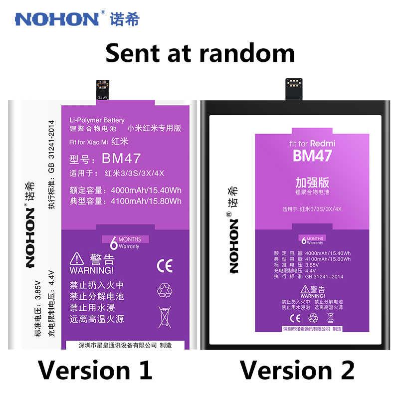 NOHON BM47 BM46 BM45 BN41 BN43 BN40 BN30 BN34 بطارية ل Xiaomi Redmi 3 3S 4X 4 6 برو 5 زائد ملاحظة 2 3 4 5 4X Replacment Bateria