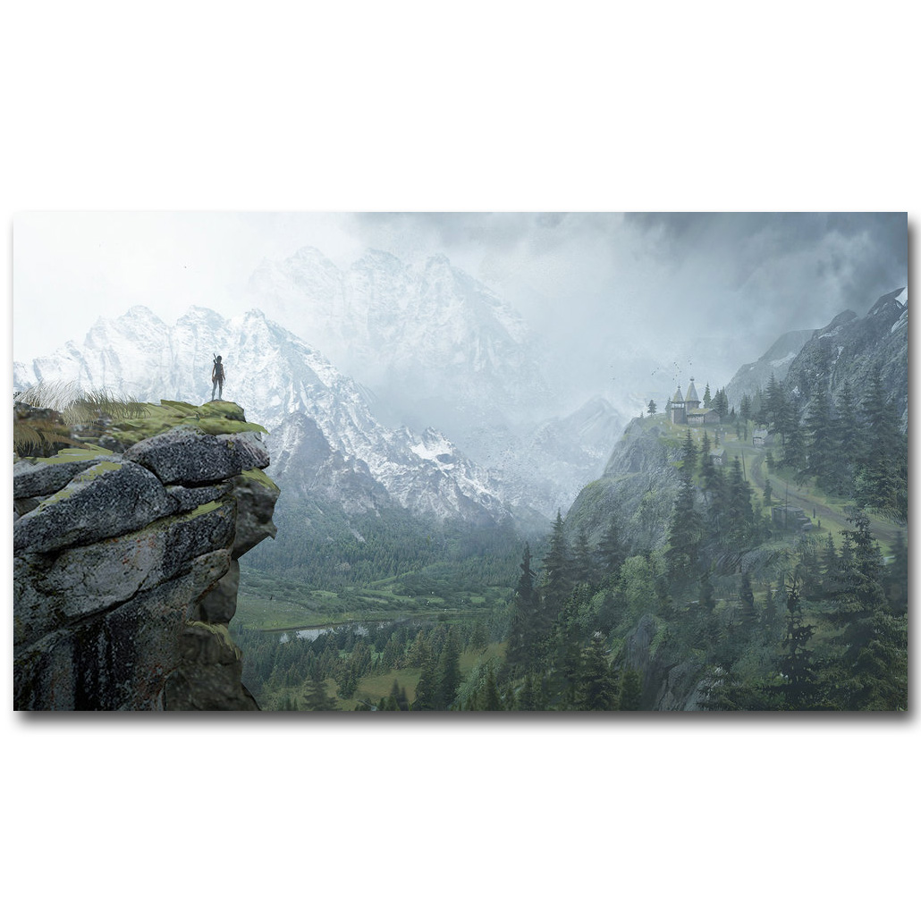 Rise Of The Tomb Raider Art Silk Fabric