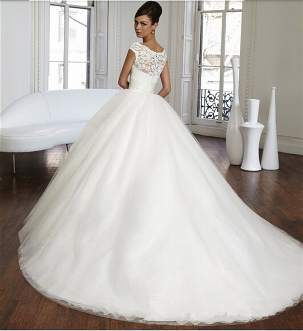 Buy 9033 lace long wedding dress bride dresses beading for What is my wedding dress size