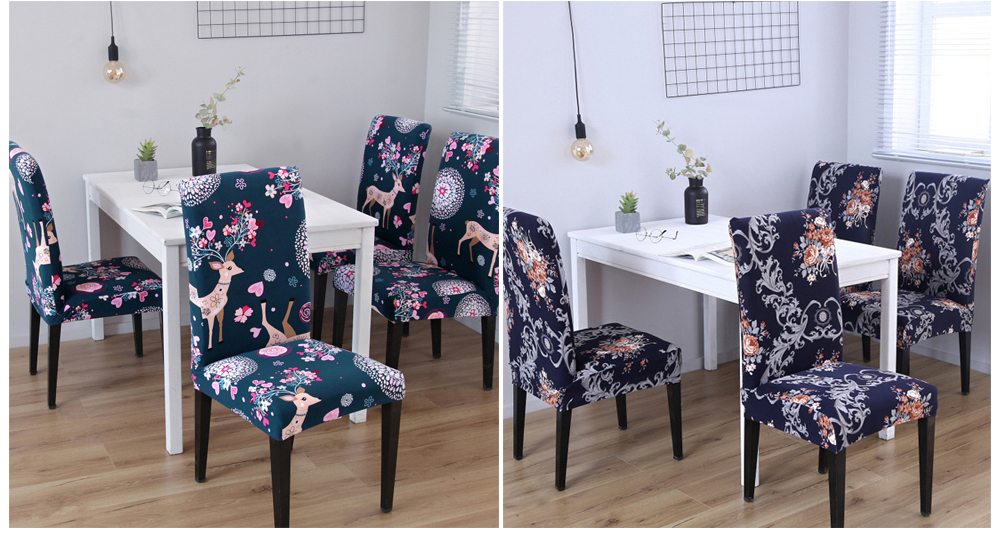 Kitchen Chair Cover Stretch Seat Cover Slipcovers Chair housse de chaise Furniture Covers Universal Spandex Chair Covers Dining