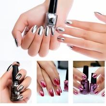 Spiegeleffect Nagelgel Nagellak Nagellak Metallic Zilver Nagellak Nagellak Manicure