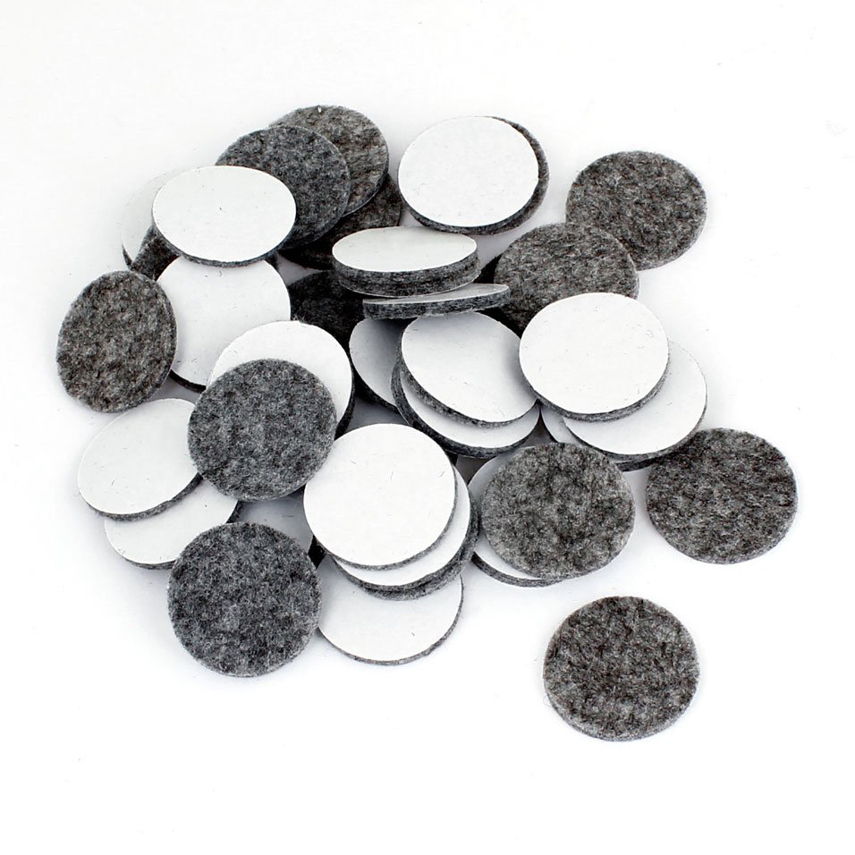 Practical 50Pcs Round Shaped Table Chair Furniture Leg Felt Mat Pad Gray