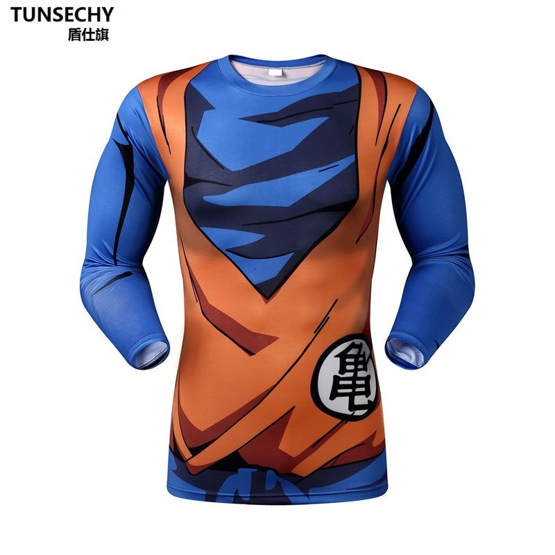 Men 3D Dragon Ball ZT 3D   Shirt   Long Sleeve   T     Shirt   Tops   Shirts   Fitness Compression   Shirt   The armor of the Master Roshi