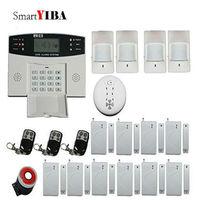 Smartyiba Дистанционное управление французский голосовые подсказки охранных Беспроводной GSM SMS Защита от взлома Системы огонь Детекторы дыма 433