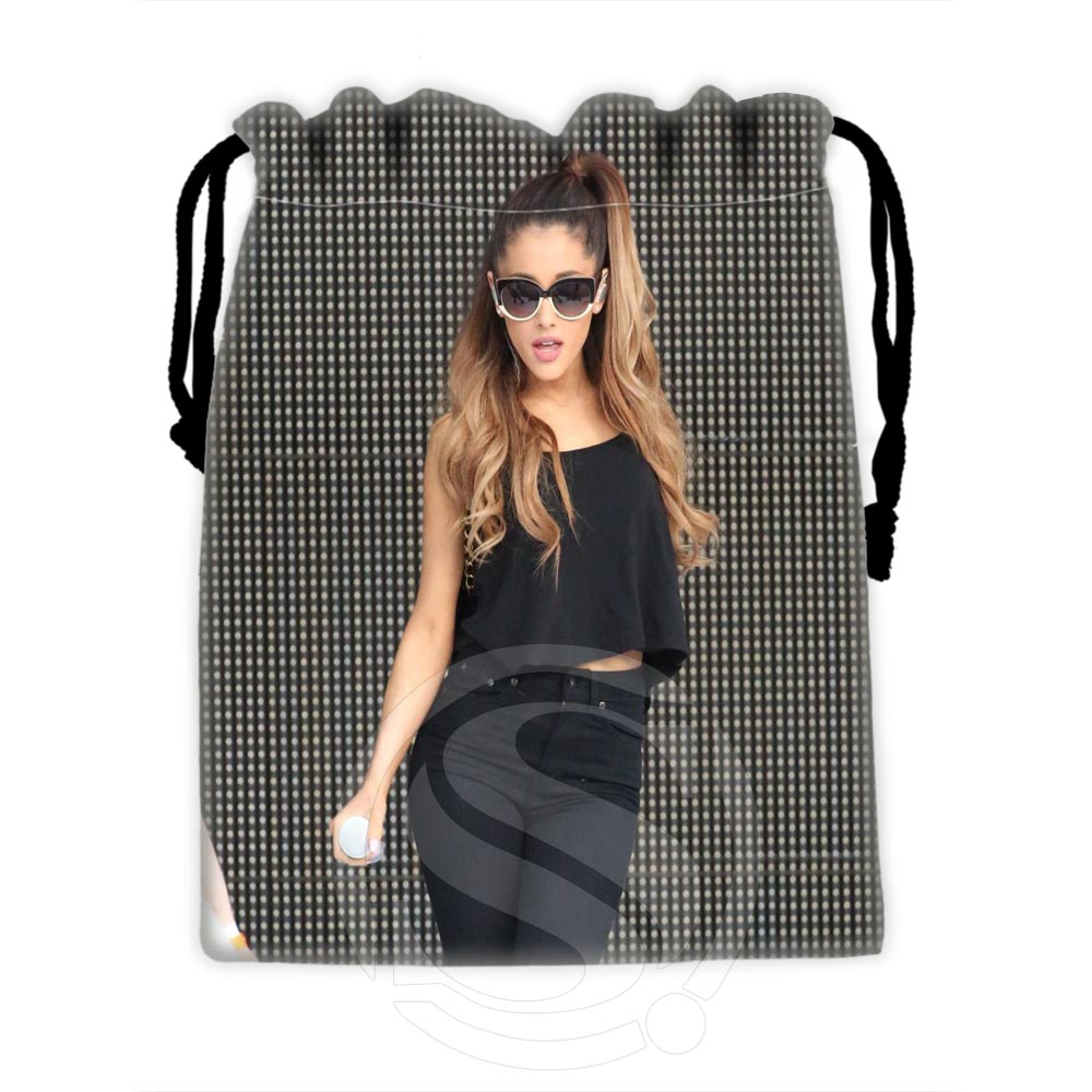 H-P614 Custom Ariana Grande #11 Drawstring Bags For Mobile Phone Tablet PC Packaging Gift Bags18X22cm SQ00806#H0614