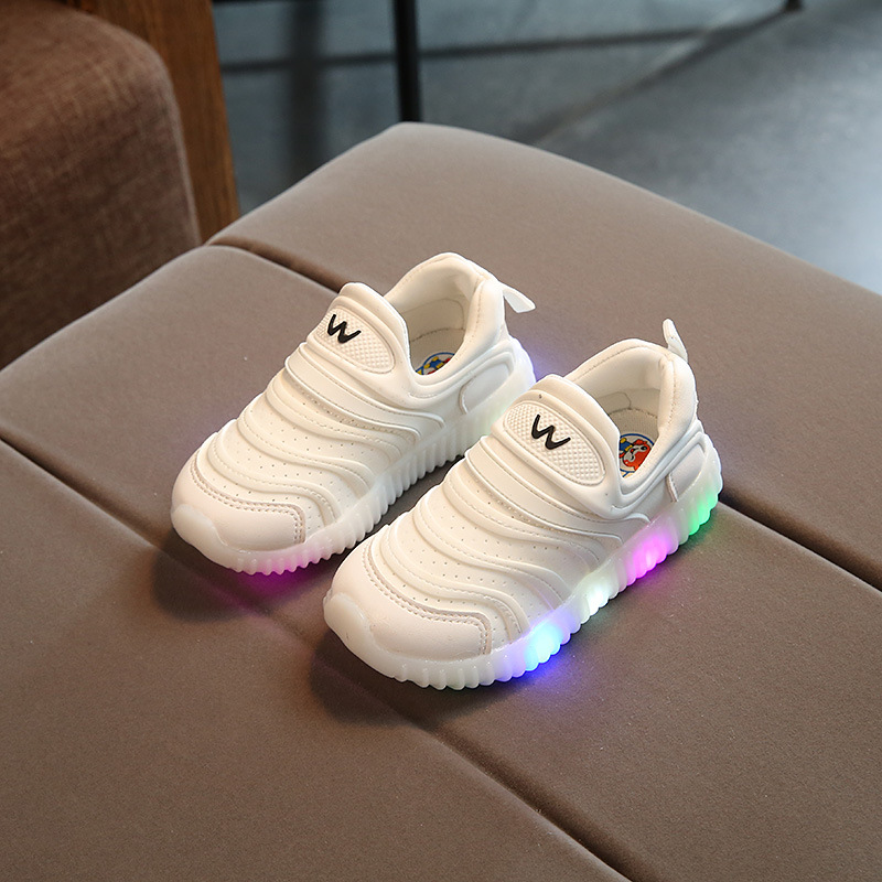 E CN luminous  kids sneakrs for girls boys with lighted  flat casual shoes child led glow flush lighting shoes baby boots