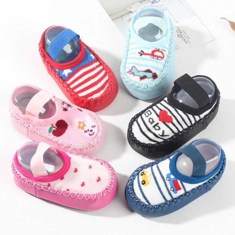 baby newborn shoes boys first walker summer girls soft sole shoe bebe footwear toddler socks shoes rubber anti-skid kids stuff