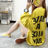 Chafferer Fashion Plus Size Loose Sweatershirt Hot Smile Face Women Hoodie Korea Style Letter Printed Casual
