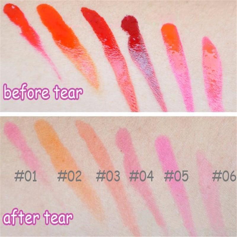 Full Professional Makeup Lip Gloss Girls Waterproof TATTOO Meguc Color Peel Mask Tint Pack Long Lasting Lips Make Up