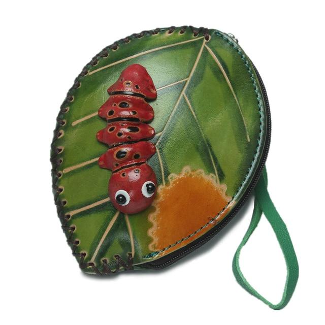 f0ddd6258 Monedero Cartera Del Mitón bolsas de hojas en forma de Insectos de dibujos  animados carpeta cero