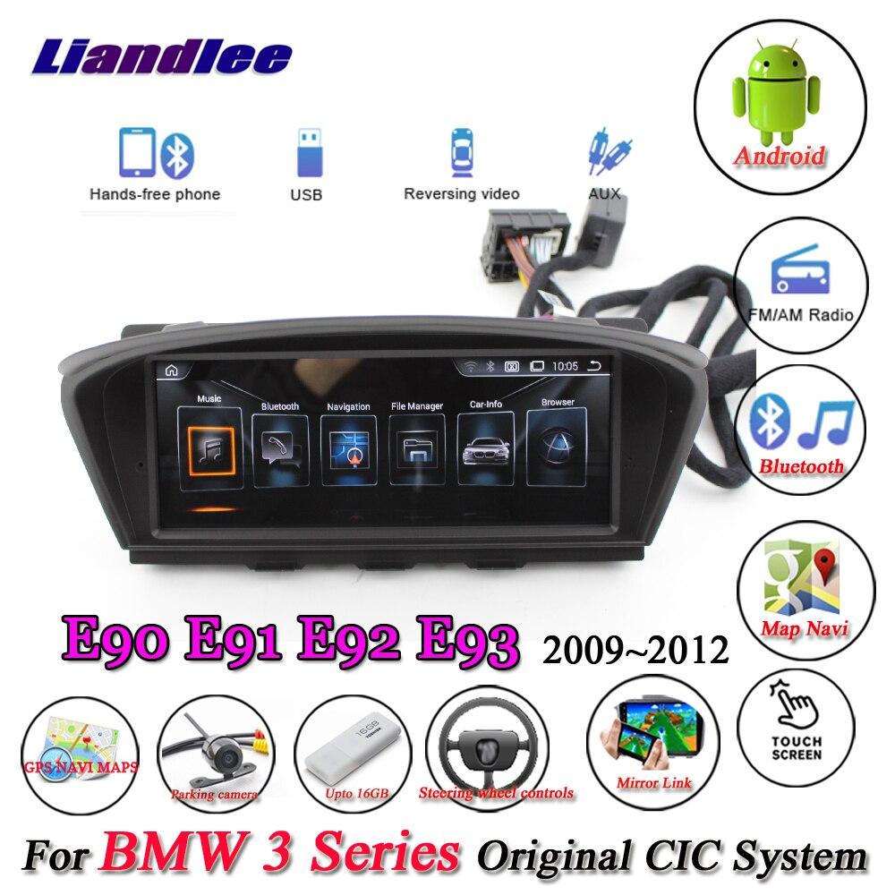 Liandlee For BMW 3 Series E90 E91 E92 E93 2009~2012 Android Original CIC System Radio Idrive Wifi GPS Navi Navigation Multimedia цена