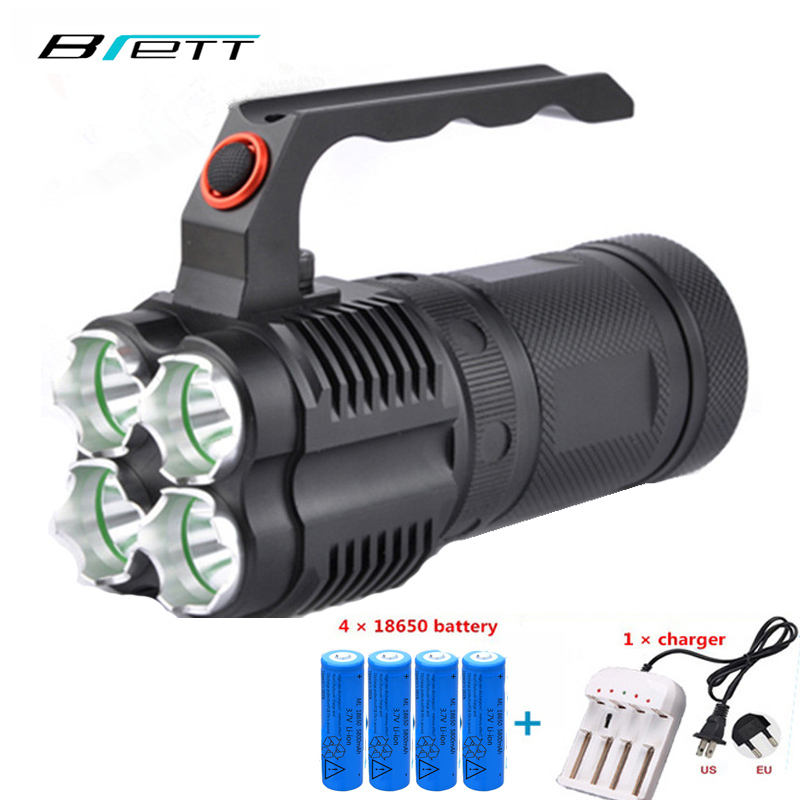 Powerful led flashlight CREE XM-L2 8000 lumens Self Defense Shock Resistant Outdoor hunting search camping Portable light shipping flashlight blog outdoor flashlight led 160 lumens flashlight p021