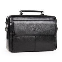 100% couro genuíno messenger bags for men crossbody bolsa de ombro masculino saco de couro