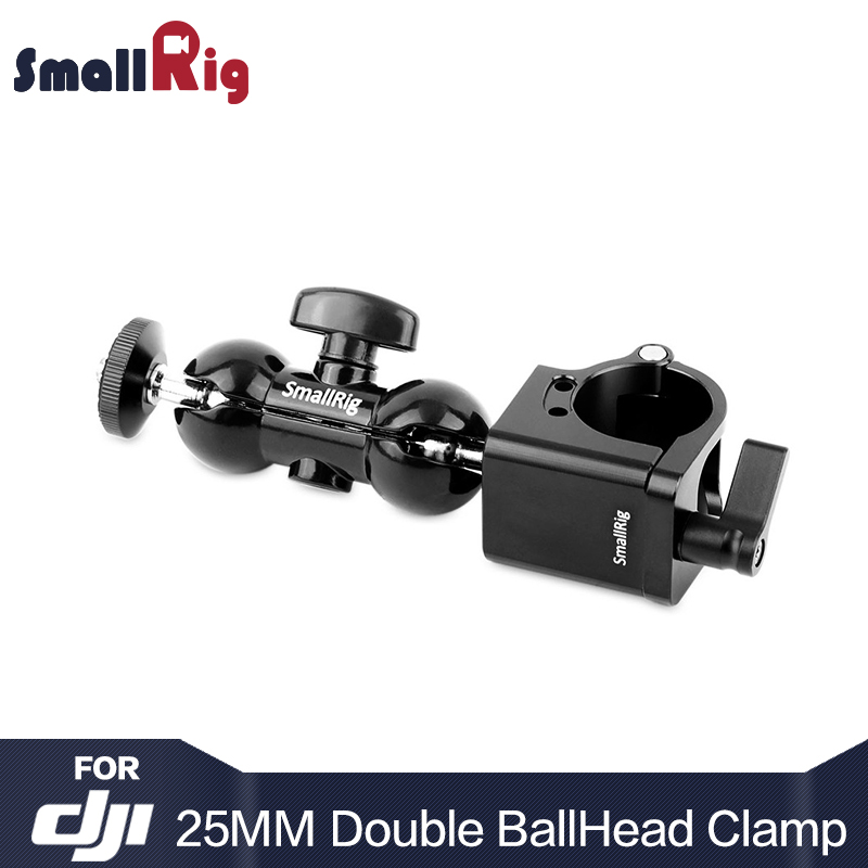 SmallRig multifunctionele dubbele kogelkopmonitorstandaard 25 mm Rod Clamp voor DJI Ronin M / MX-serie / Freefly MOVI - 1878
