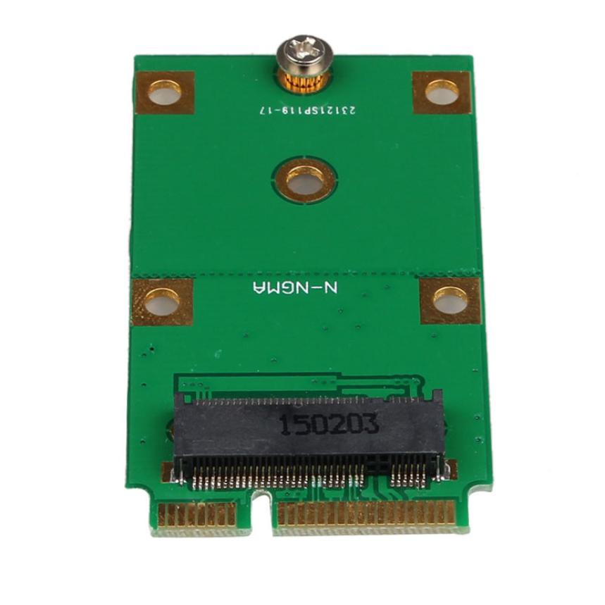 Factory Price MOSUNX Hot Mini PCI-E 2 Lane M.2 NGFF 30mm 42mm SSD To 52pin mSATA Adapter Card Free Shipping Drop Shipping