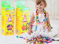 128Pcs Pop Bead Pearl Children Diy Building Blocks Jewelry Accessories Arty Toy Set B for Kids Intelligence Education Toys Gifts