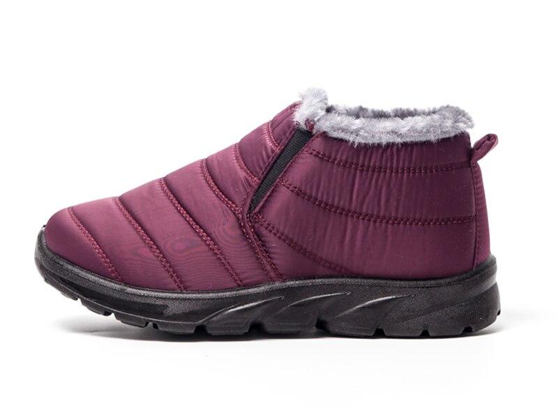 c113581fb4921 41 Nieve La Mujer Fondo Madre Negro Mantener Caliente Impermeable púrpura  Casuales Antideslizante Botas Kncokar rojo Piel Para Interior Invierno  Size36 ...