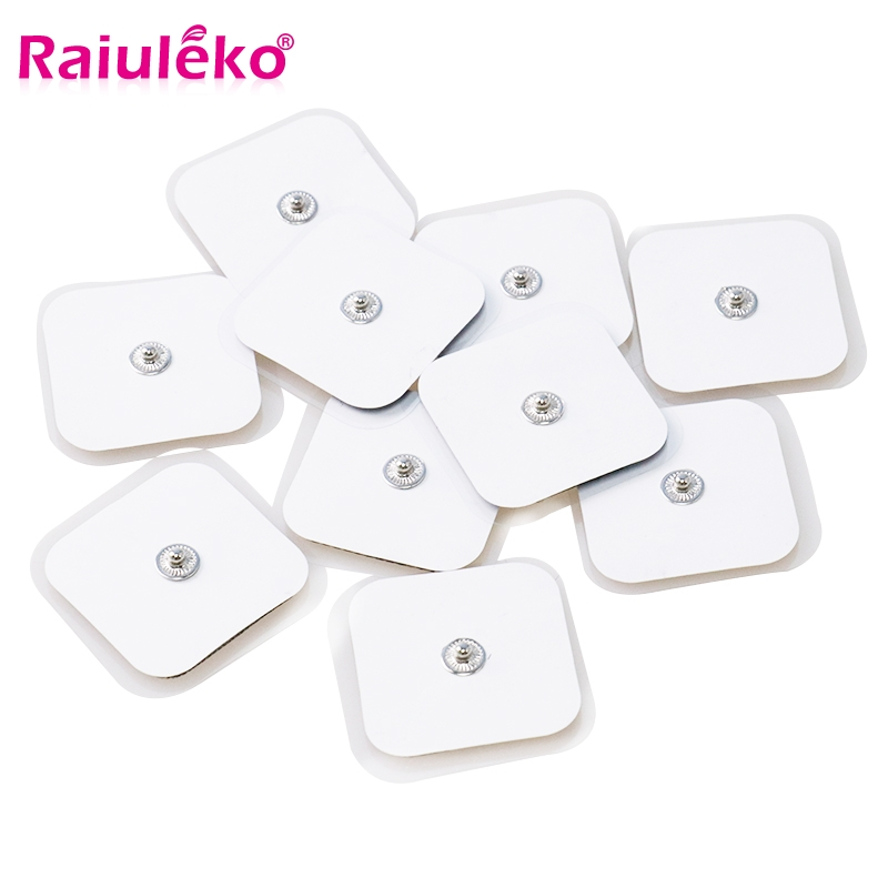 10pcs/20PCS White Electrode Pads Replacement for Tens Massagers Machine Muscle Stimulator Electric Digital Massager 4*4cm