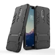 Hybrid Case For Nokia X6 6 2 2018 7 7.1 6.1 Plus 8 5 3 2.1 Cases Armor Robot Bumper Oneplus 6T 5T Covers Coque