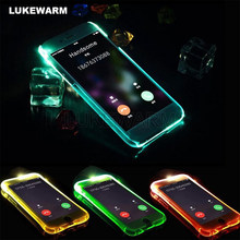 For Samsung Galaxy NOTE 9 8 S9 S8 Plus A7 2017 J3 J5 J7 2016 J2 PRIME S7 E Soft TPU LED Flash Light Up Remind Incoming Call Case(China)