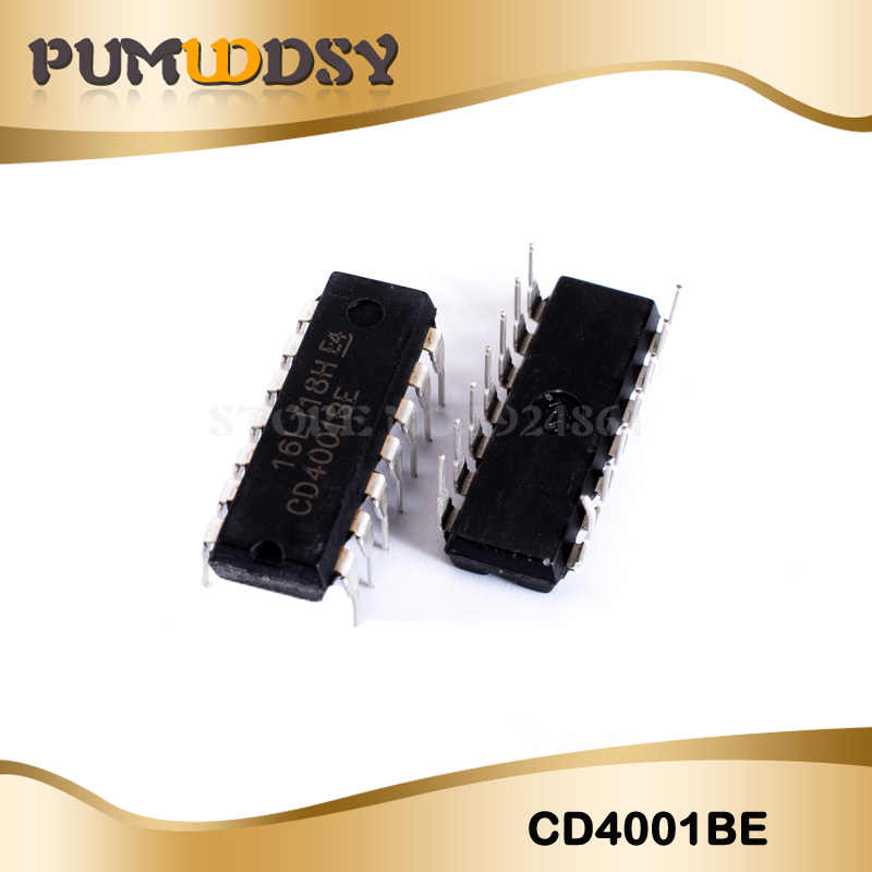 10pcs CD4001 <font><b>CD4001BE</b></font> HEF4001BE HEF4001 DIP-14 Switching Controllers SMPS Controller new original image