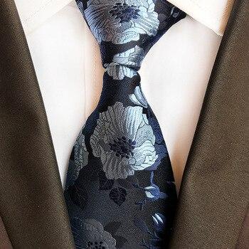 2019 новый дизайн 8 см высокого класса 100% шелк цветастый галстук шелковый галстук мода классический мужской жаккард Тканый 100% шелк мужской га...